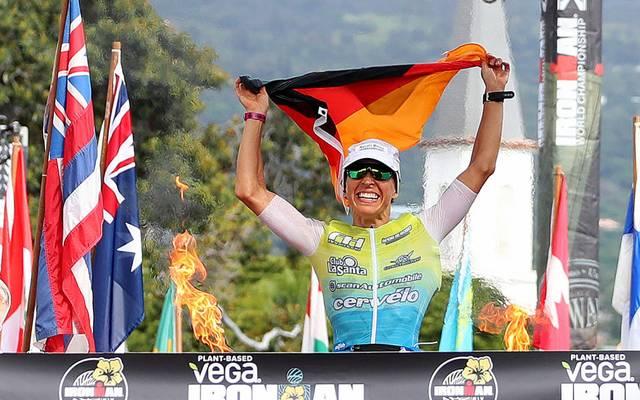 Anne Haug gewann nach einer phänomenalen Aufholjagd erstmals den Ironman auf Hawaii