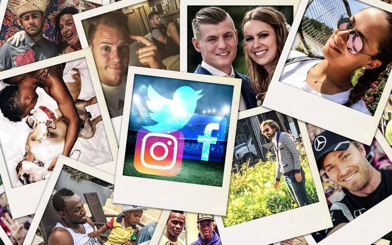 Instagram, Twitter, Facebook - der moderne Athlet von heute kommt nicht mehr ohne aus. SPORT1 zeigt die besten Bilder aus den sozialen Medien