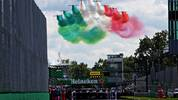 MONZA, ITALY - SEPTEMBER 08: An aeronautical display is seen before the F1 Grand Prix of Italy at Autodromo di Monza on September 08, 2019 in Monza, Italy. (Photo by Peter Fox/Getty Images)