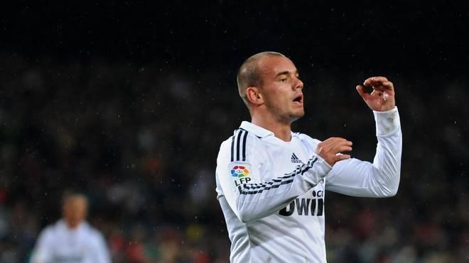 Wesley Sneijder erzielte in 66 Spielen für Real Madrid nur elf Tore