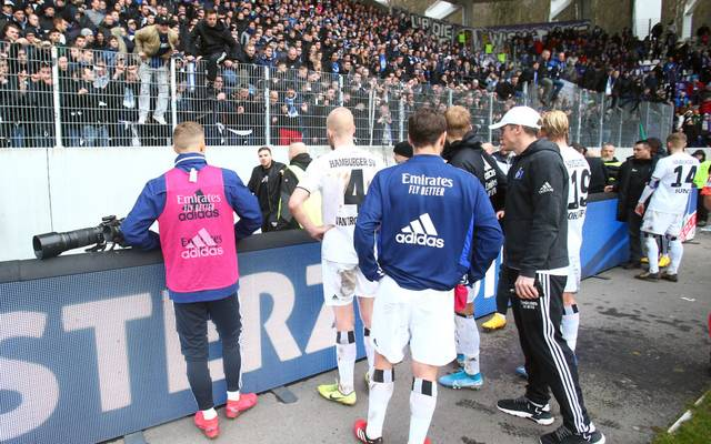 Die HSV-Spieler müssen sich unschöne Worte gefallen lassen