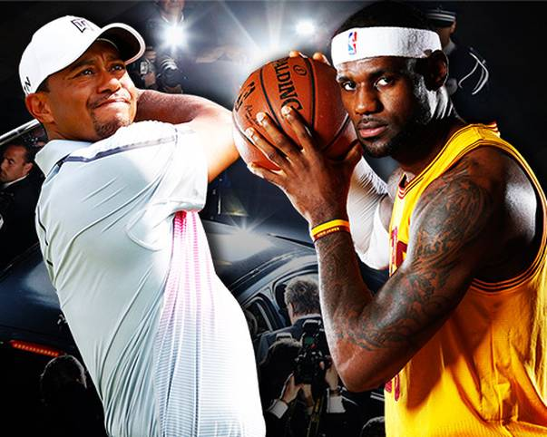 Seit 2007 kürt das Wirtschaftsmagazin Forbes die zehnt wertvollsten Sportlermarken - und 2014 gibt es einige Veränderungen. Ronaldo schlägt Messi, ein Inder beißt sich fest - und Tiger Woods (l.) und LeBron James liefern sie einen erbitterten Zweikampf. Wer am Ende die Nase vorne hat, zeigt SPORT1