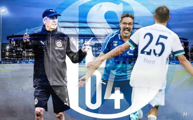 David Wagner stellt mit Schalke 04 derzeit Lucien Favre (l.) in den Schatten