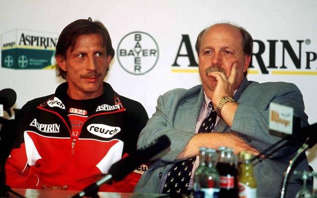 Reiner Calmund (r.) und Christoph Daum arbeiteten bei Bayer Leverkusen zusammen