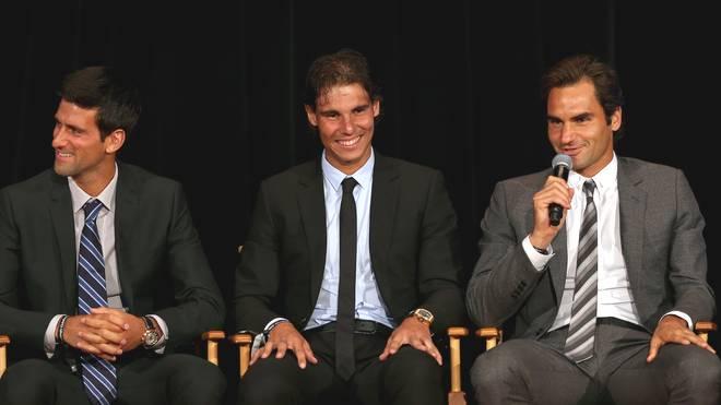 Novak Djokovic, Rafael Nadal und Roger Federer (v.l.) sind die erfolgreichsten Tennis-Spieler des letzten Jahrzehnts