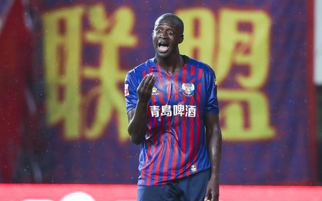 Yaya Touré spielte zuletzt bei Qingdao Huanghai in China - die Trikots erinnern an den FC Barcelona