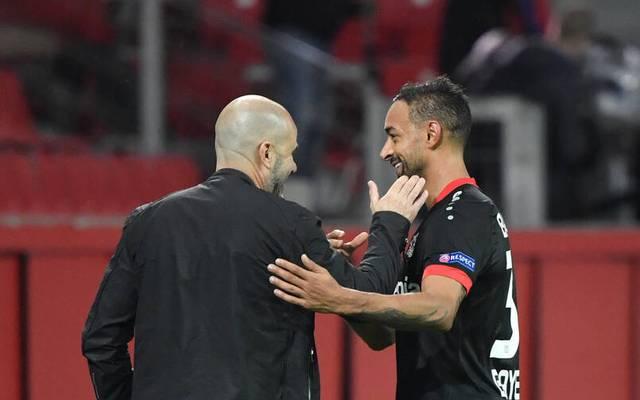 Trainer Peter Bosz feierte mit Bayer Leverkusen einen Sieg gegen den FC Augsburg