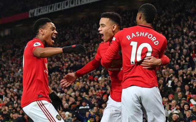 Manchester United freut sich über einen klaren Sieg
