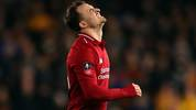 WOLVERHAMPTON, ENGLAND - JANUARY 07: Xherdan Shaqiri of Liverpool reacts during the Emirates FA Cup Third Round match between Wolverhampton Wanderers and Liverpool at Molineux on January 7, 2019 in Wolverhampton, United Kingdom. (Photo by Catherine Ivill/Getty Images)