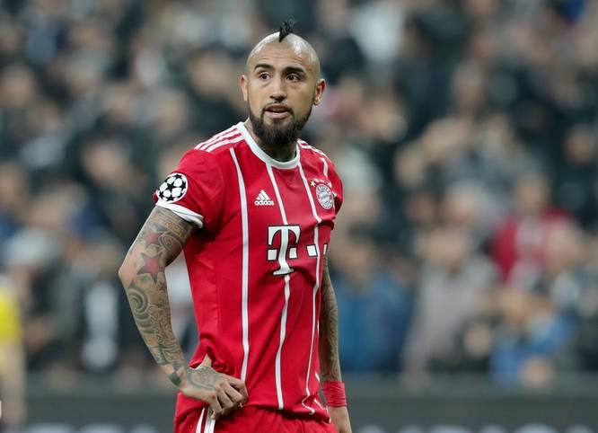 Arturo Vidal spielte seit 2015 beim FC Bayern München