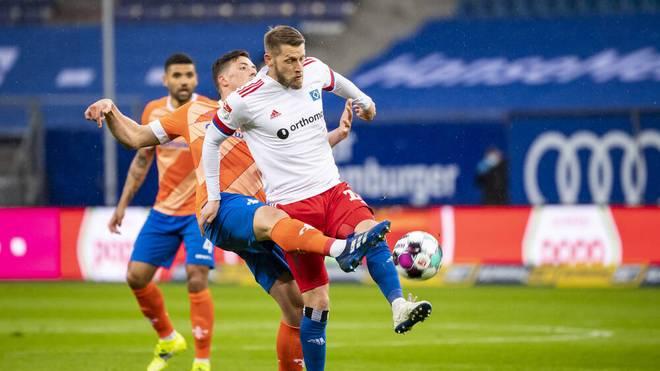Aaron Hunt musste mit dem HSV den nächsten Rückschlag hinnehmen