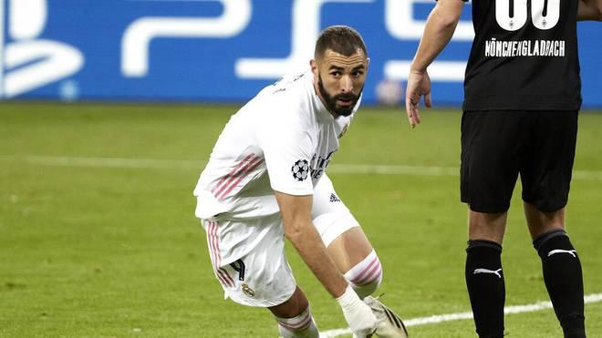 Karim Benzema erzielte gegen Gladbach das 1:2