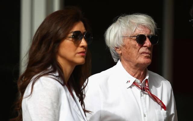 Bernie Ecclestone und seine Ehefrau Fabiana freuen sich über ihr Elternglück