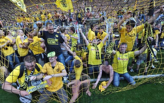 BVB-Fans beim Jubel über den Titelgewinn 2011