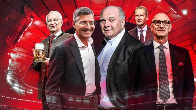 Die Mitglieder des Aufsichtsrats beim FC Bayern