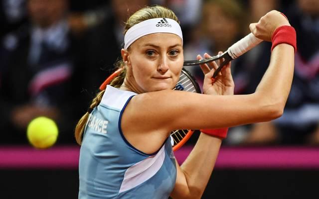 Kristina Mladenovic im Fed Cup Halbfinale