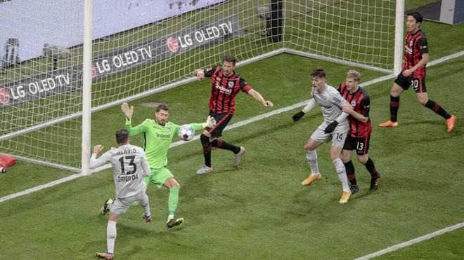 Leverkusen verlor im Hinspiel gegen Frankfurt mit 1:2