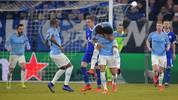 Leroy Sane sorgte mit seinem Freistoßtor für das 2:2 für Manchester City bei Schalke 04