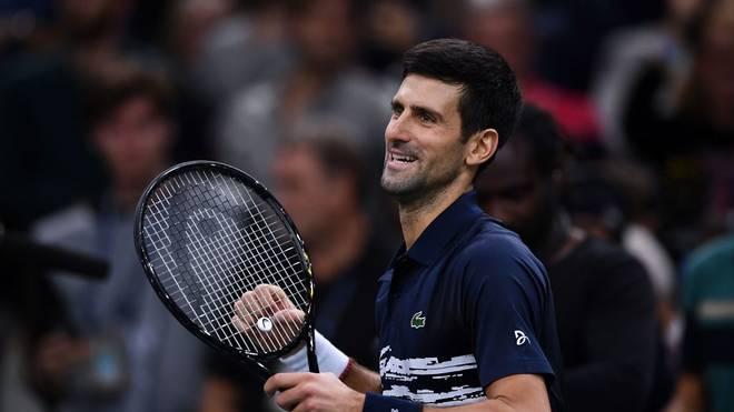 Novak Djokovic freut sich über seinen Sieg gegen Denis Shapovalov