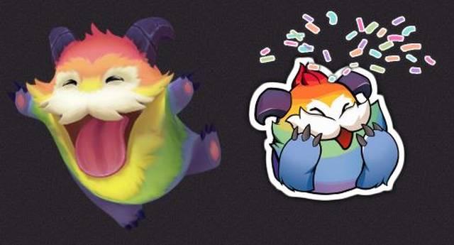 Der Regenbogen-Poro ist ab sofort kostenlos für alle Legends-of-Runeterra-Spieler im Shop erhältlich.