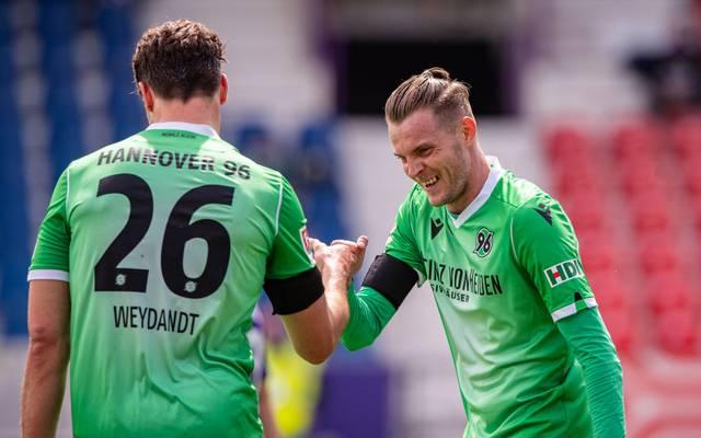 Hannover 96 hat sich in die obere Tabellenhälfte geschoben