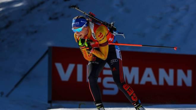 Franziska Preuß ist in diesem Winter Deutschlands beste Biathletin