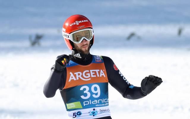 Markus Eisenbichler wird Zweiter in Planica