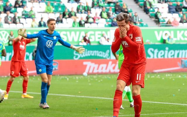 Michael Gregoritsch verpasste mit dem FC Augsburg den Sprung auf Platz 1