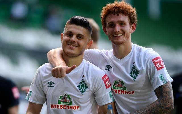 Milot Rashica und Josh Sargent erreichten mit Werder Bremen die Relegation