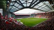 KAISERSLAUTERN, GERMANY - AUGUST 06:  A general overview of the Fritz-Walter-Stadion is pictured while the teams enter the pitch prior to the Second Bundesliga match between 1. FC Kaiserslautern and Union Berlin at Fritz-Walter-Stadion on August 6, 2012 in Kaiserslautern, Germany.  (Photo by Dennis Grombkowski/Bongarts/Getty Images)