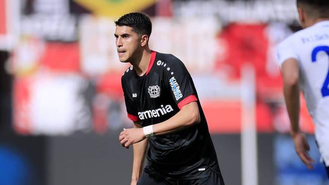 Exequiel Palacios spielt bei der TSG Hoffenheim von Beginn an