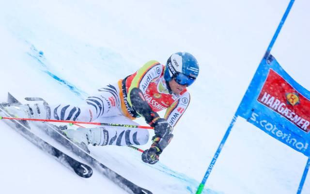 Alexander Schmid war am Samstag im ersten Riesenslalom von Santa Caterina bester Deutscher