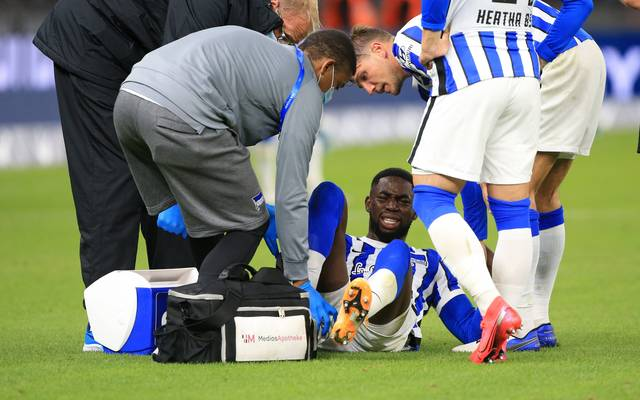 Jordan Torunarigha verletzte sich bereits am 2. Spieltag gegen Eintracht Frankfurt