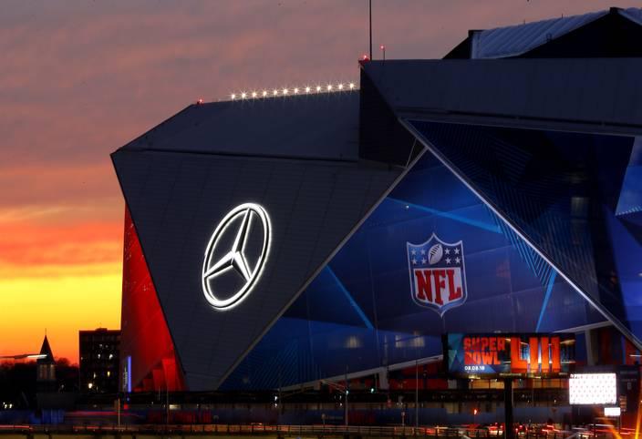 Der Super Bowl LIII findet 2019 im Mercedes-Benz Stadium in Atlanta statt