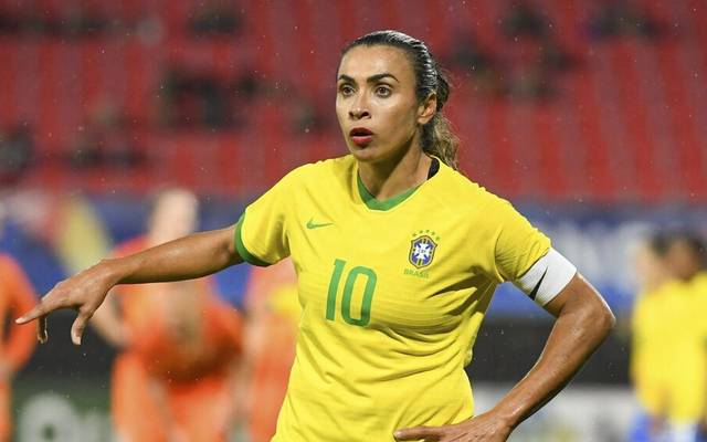 Marta und die brasilianische Nationalmannschaft will bei Olympia um den Sieg mitspielen