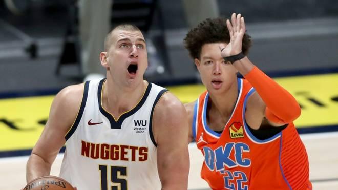 Bester Werfer der Denver Nuggets beim Sieg über die Oklahoma City Thunder war Nikola Jokic (l.)