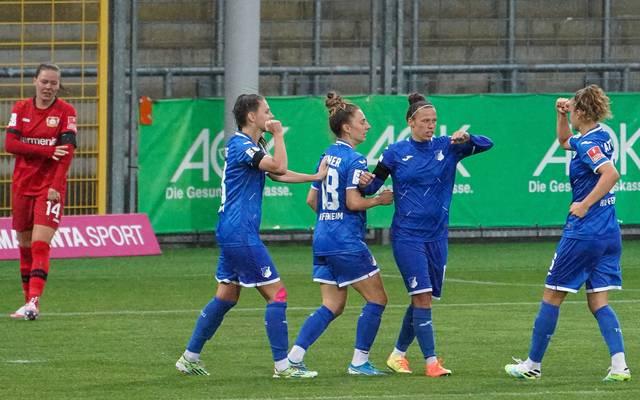 Die Hoffenheimerinnen ließen den Gegnerinnen aus Leverkusen keine Chance