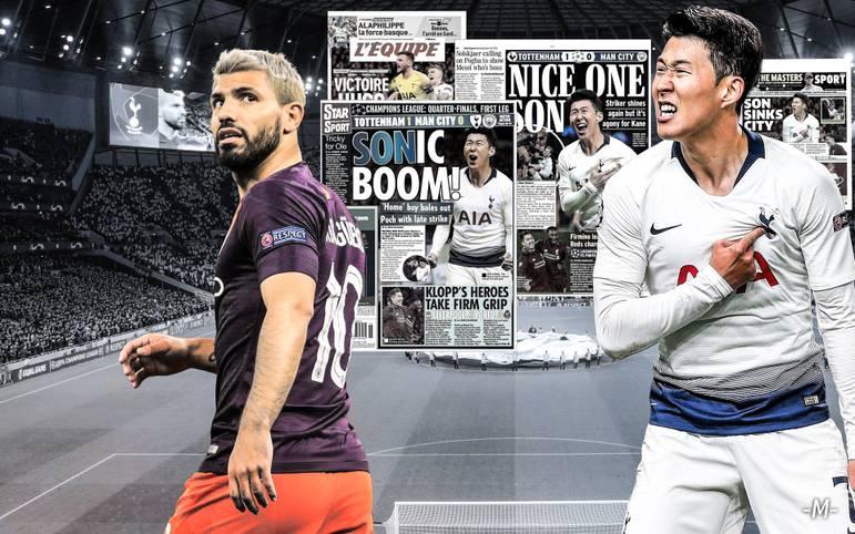 Manchester City stolpert über Tottenham Hotspur! Sergio Aguero verschießt einen Elfmeter für die Citizens, dann schießt Heung-min Son die Gastgeber zum umjubelten Sieg. Der FC Liverpool hat gegen den FC Porto hingegen wenig Mühe, nur Mohamed Salah sorgt mit einem Tritt für Aufregung. SPORT1 fasst die internationalen Pressestimmen zusammen