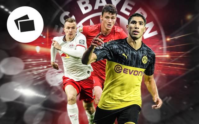 Lukas Klostermann (l.) und Achraf Hakimi (r.) werden beim FC Bayern gehandelt