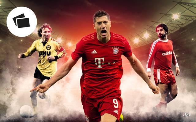 Robert Lewandowski (M.) springt in der ewigen Torschützenliste der Bundesliga auf Rang 4