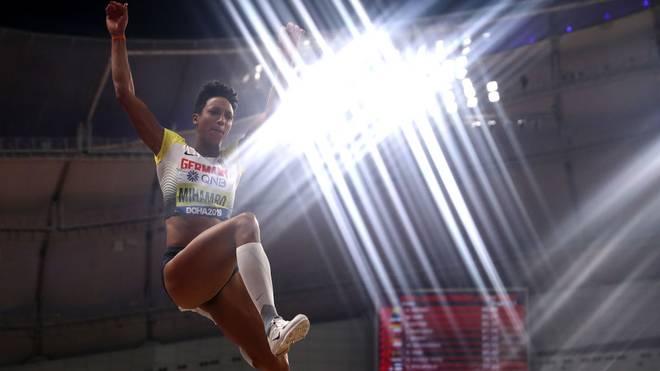Malaika Mihambo holte bei der Leichtathletik-WM in Doha die Goldmedaille im Weitsprung