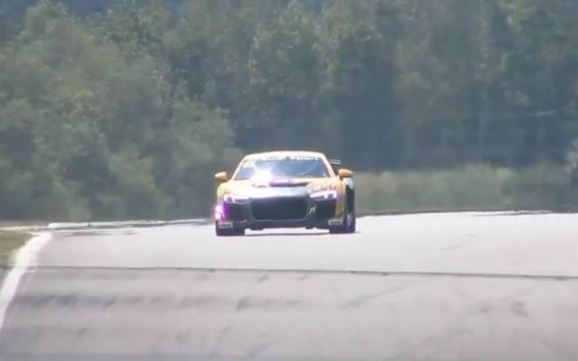 Tim Reiter gewinnt am Nürburgring das erste Rennen des Audi Sport Seyffarth R8 LMS Cup