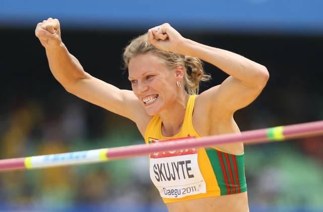Austra Skujyte hält seit 2005 den Weltrekord im Siebenkampf