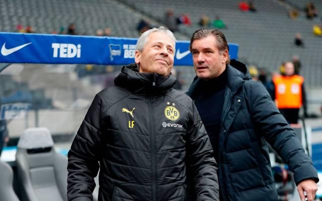 Lucien Favre und Michael Zorc hoffen auf einen Ausrutscher von Inter Mailand