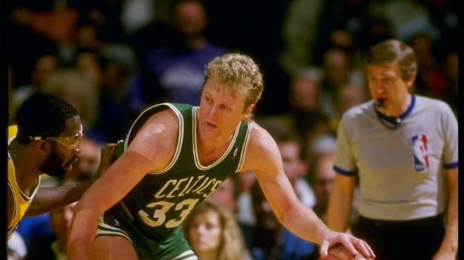 Larry Bird wurde drei Mal Meister mit den Boston Celtics