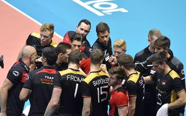 Deutsche Volleyballer Teambild