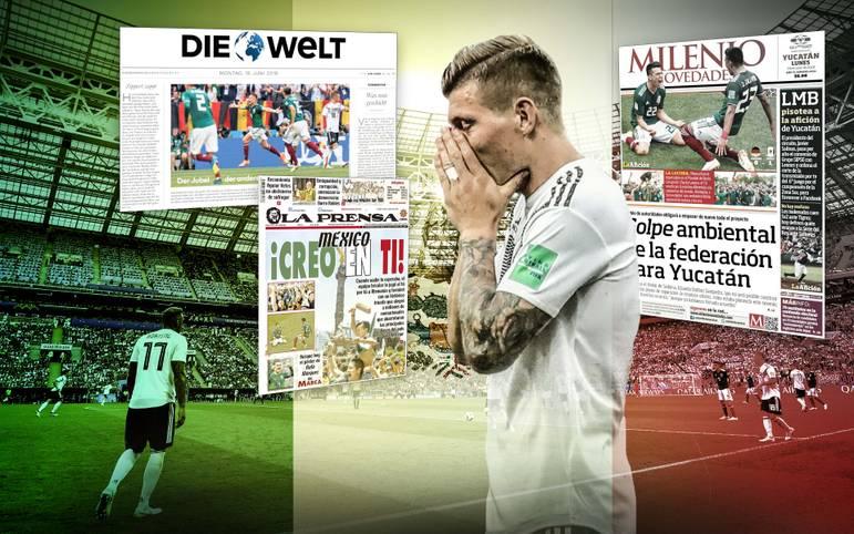 Nach der überraschenden Auftaktpleite der deutschen Nationalelf gegen Mexiko sind die internationalen Medien von der Darbietung des DFB-Teams entsetzt. Die Mexikaner feiern dagegen euphorisch. Die internationalen Pressestimmen