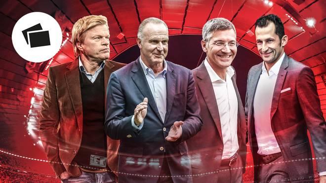 Oliver Kahn, Karl-Heinz Rummenigge, Herbert Hainer und Hasan Salihamidzic (v.l.) werden den FC Bayern künftig lenken