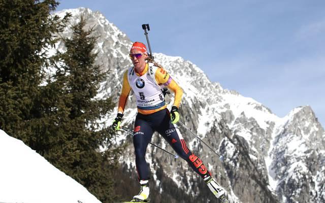 Denise Herrmann holte bei der Biathlon-WM schon Silber in der Verfolgung