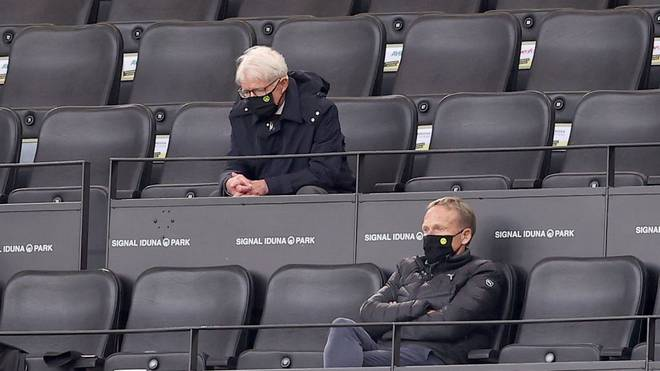 Präsident Reinhard Rauball (l.) und Geschäftsführer Hans-Joachim Watzke müssen beim BVB einen Verlust verzeichnen